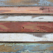 Weathered Teak Plank - White