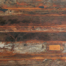 Interesting Teak Reclaimed Weathered Table Top With Wood Tops