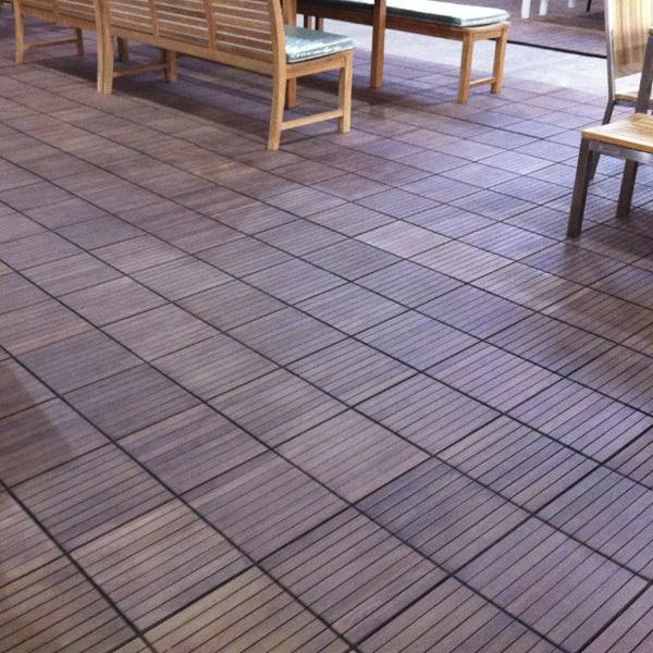 Reclaimed Teak Decking Tiles 9r