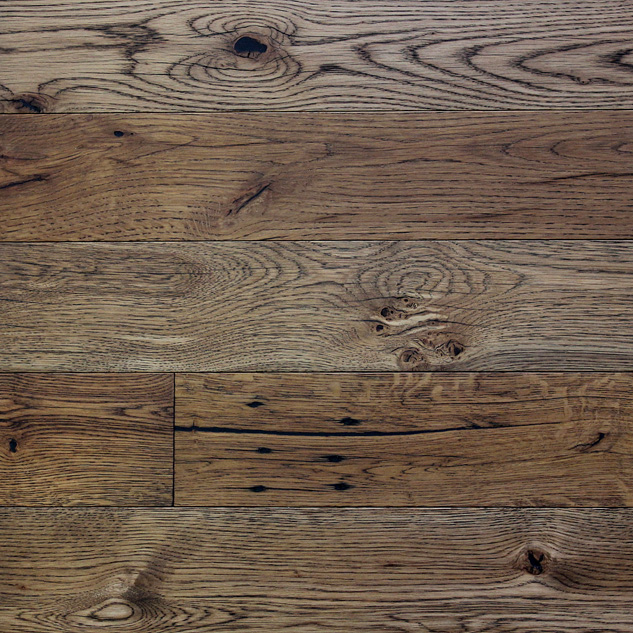 Reclaimed MISSION OAK ENGINEERED FLOORING & PANELING - DARK OIL