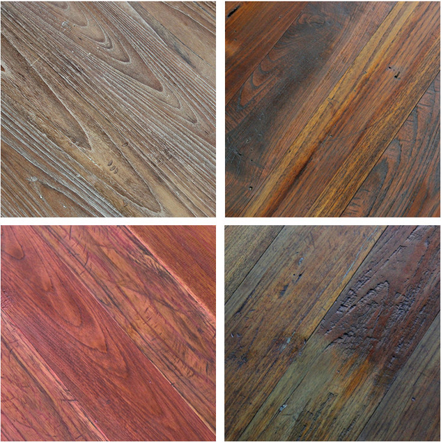 Reclaimed naked teak engineered flooring paneling Reclaimed teak flooring