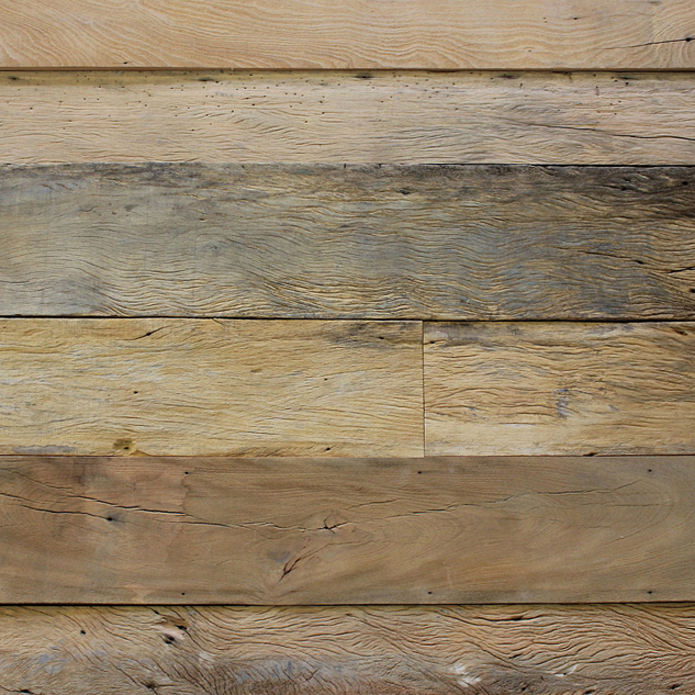 Reclaimed sandblasted peroba paneling flooring for Reclaimed wood sources