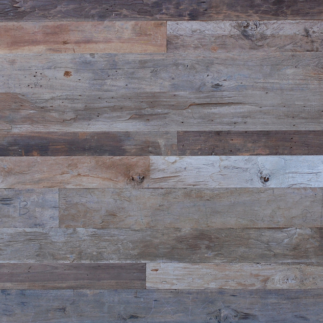 Reclaimed weathered naturally distressed teak paneling Reclaimed teak flooring