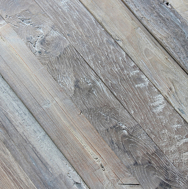 Reclaimed naturally distressed teak long plank siding