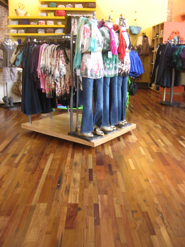Urban outfitters portland Reclaimed wood flooring portland