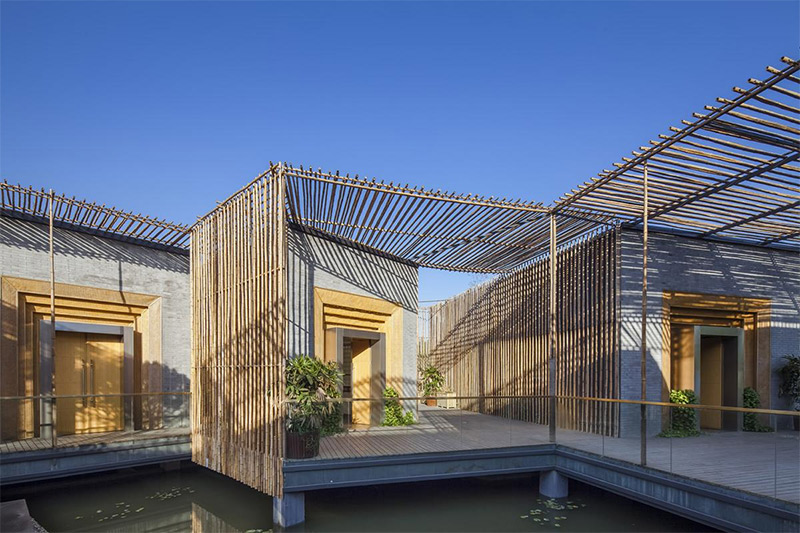 Bamboo helps to create an open outdoor space