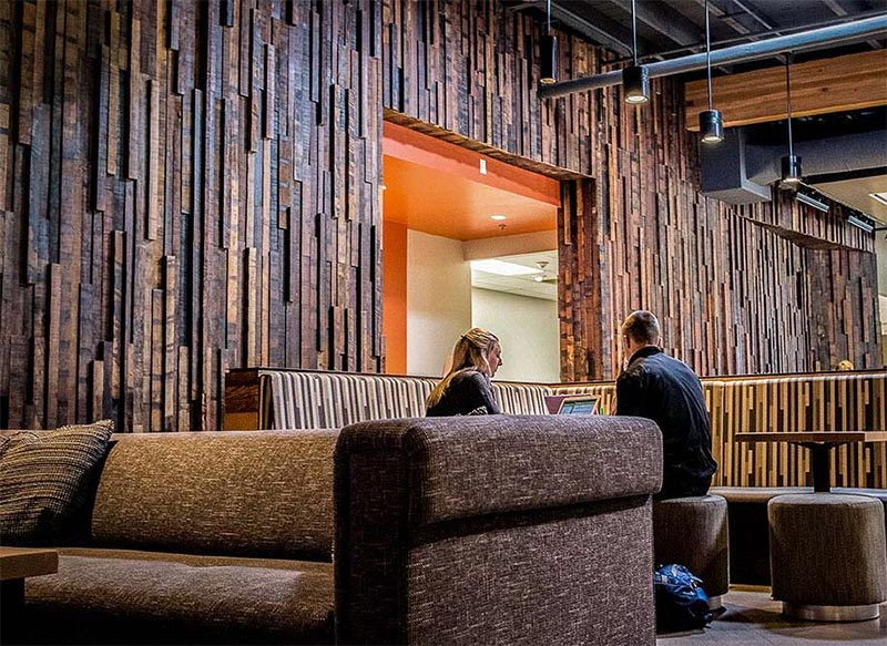 Multi-dimensional rustic jakarta wood paneling