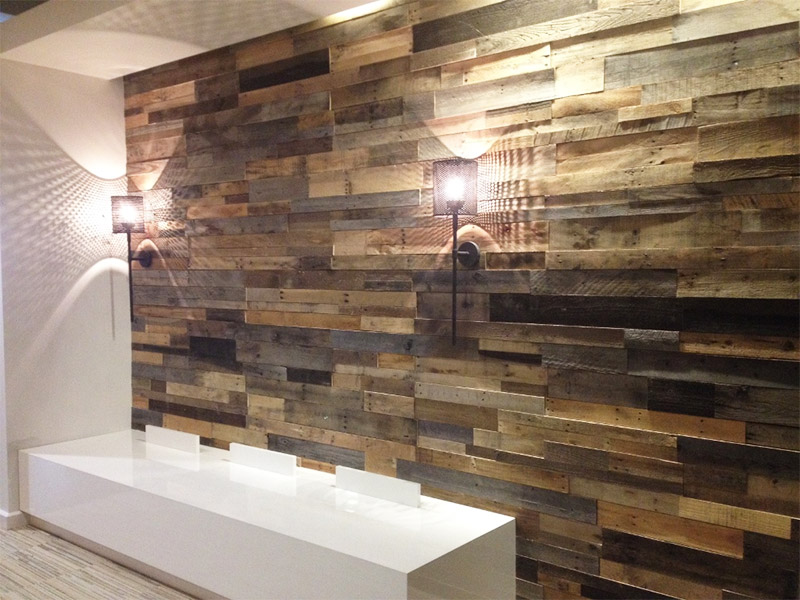 Multi-dimensional wood wall paneling