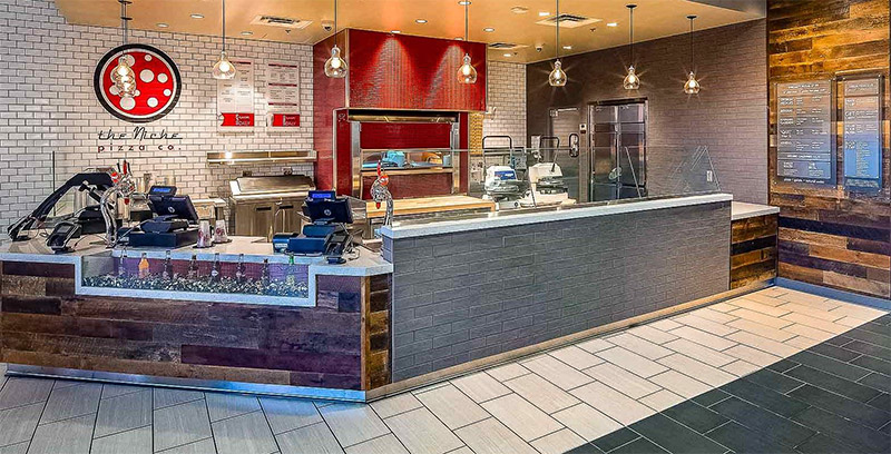 Rustic wood complementing refined tile