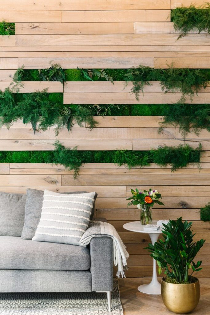From Architectural Digest A living wall at