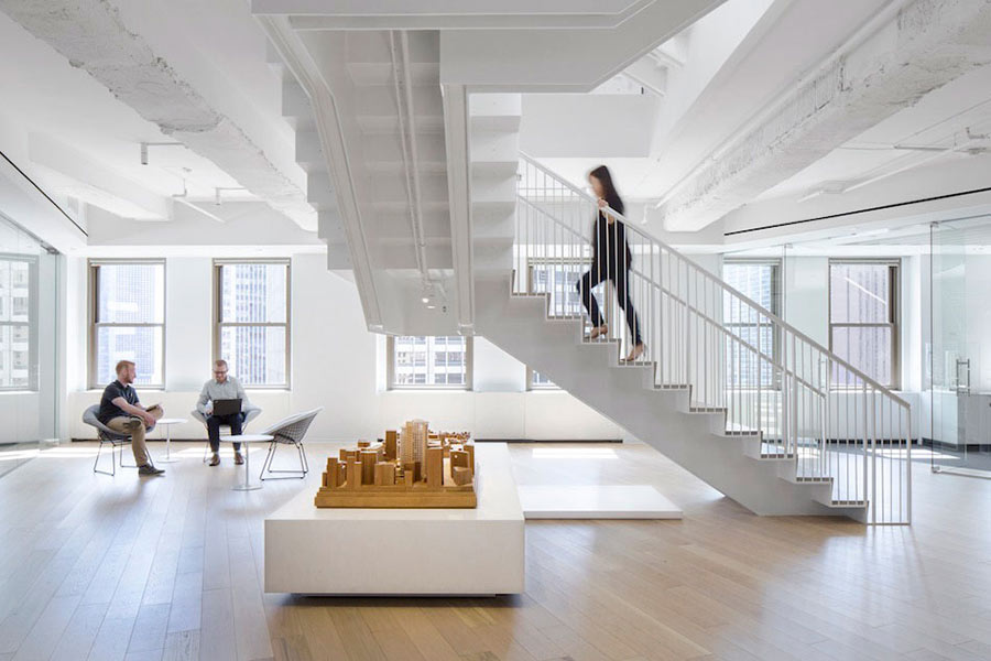 Natural light in Perkins+Will's Chicago Office