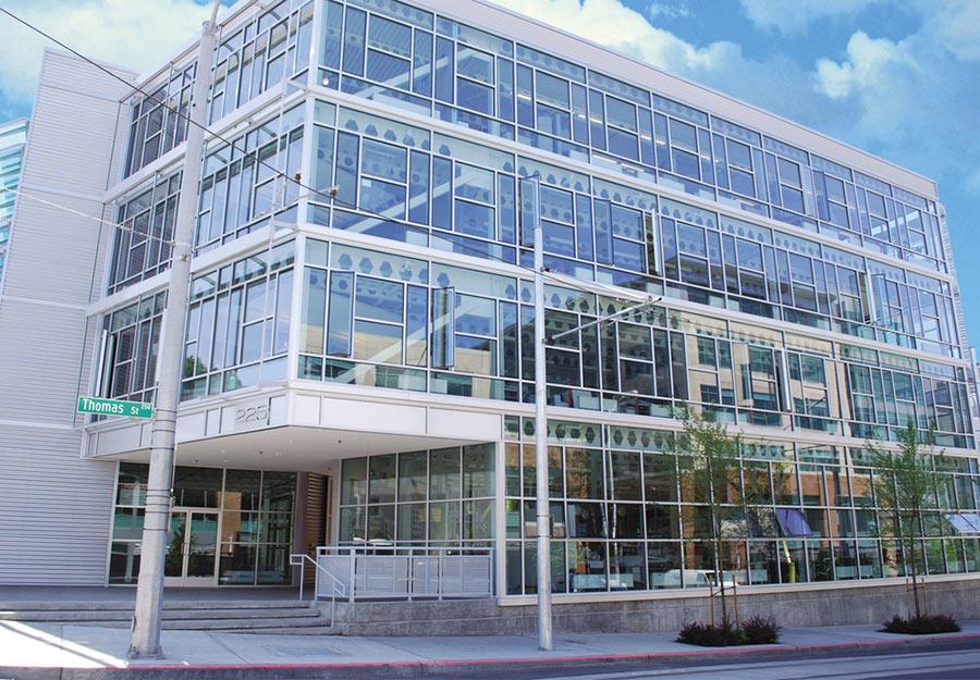 LEED-certificed recycled steel office in Seattle