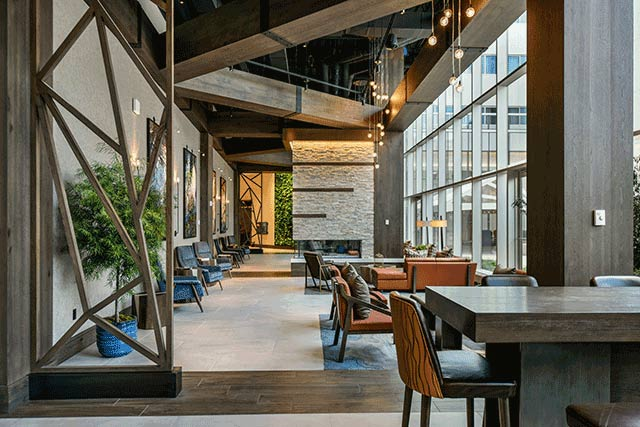 Westin Buffalo includes greenery, light, and natural materials
