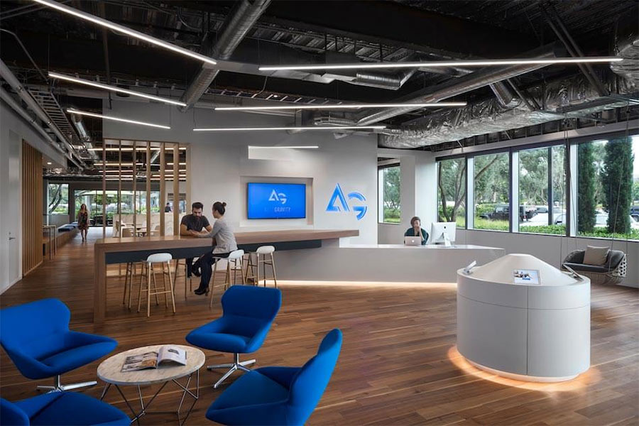 Autogravity's lobby is a coworking space