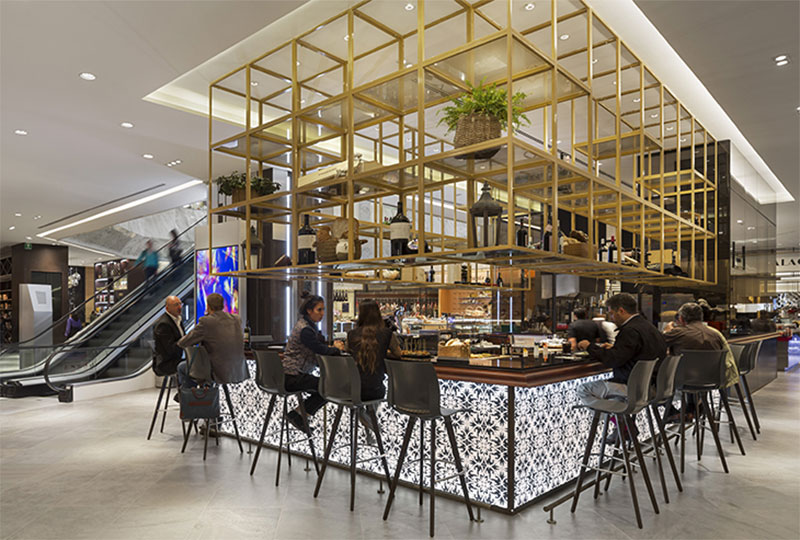 El Palacio de Hierro in Mexico City has a novel restaurant space