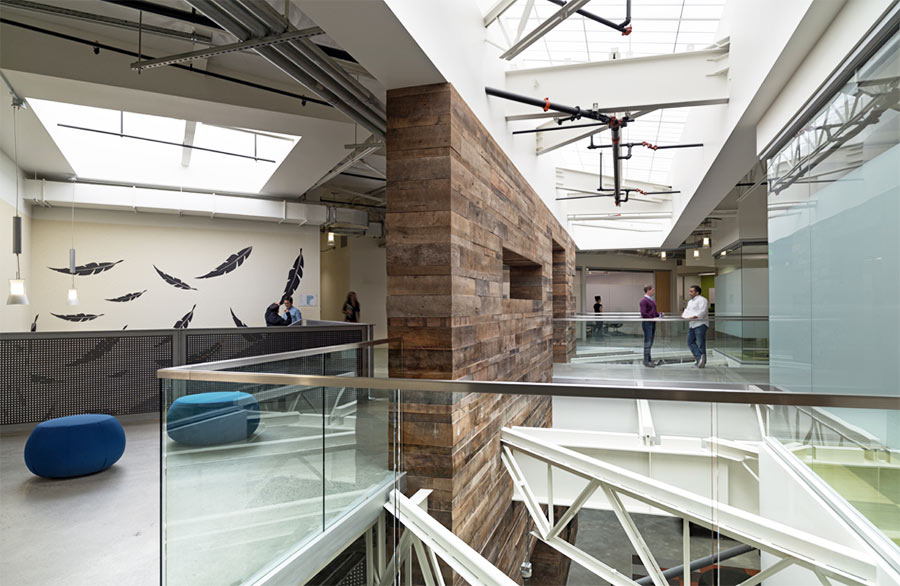 Reclaimed Weathered Wood at Google's Quad Campus