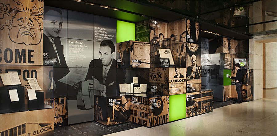 H&R Block's Heritage Hall shows the company's history and tradition