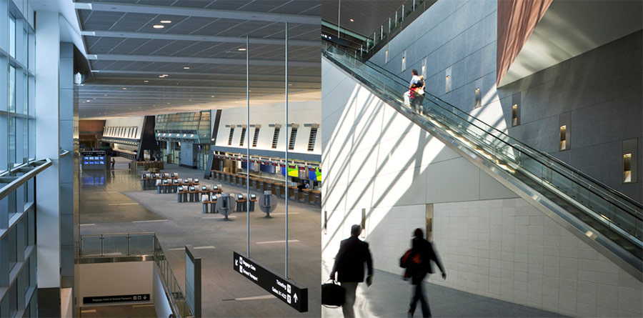 Natural light is abundant in Logan Airport's Terminal A