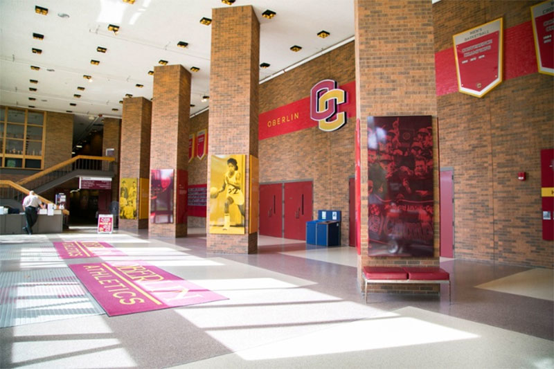Oberlin College gymnasium shows athletic victory and dedication