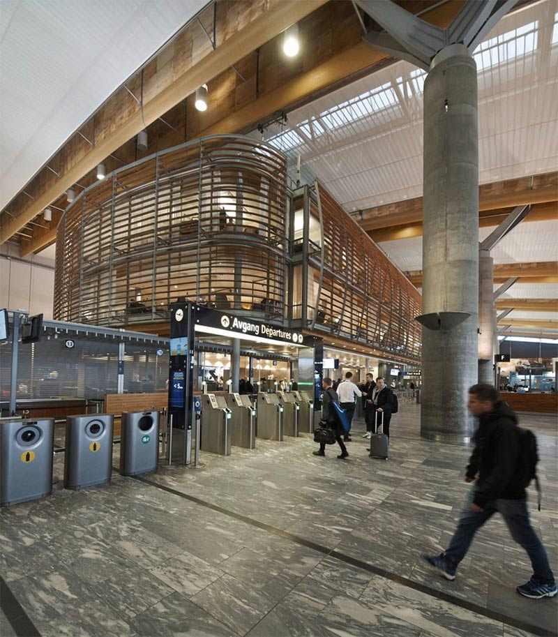 Biophilic & contemporary design coexist at Oslo Airport
