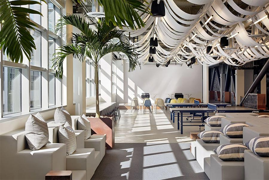 Dropbox's San Francisco HQ uses potted trees
