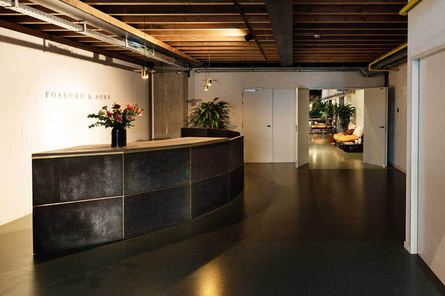 Fosbury & Sons office space in Belgium created an industrial, minimalistic space