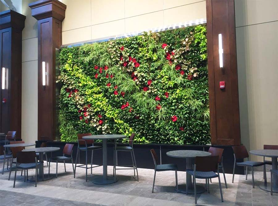 Living wall at Henry Ford Hospital