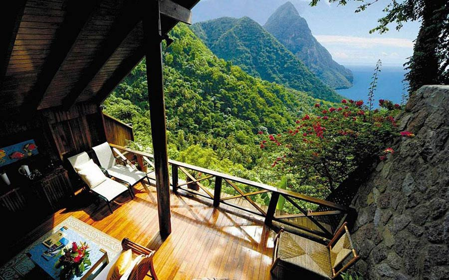 Ladera Resort features breathtaking views