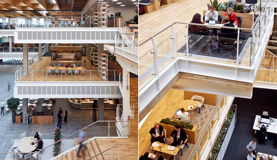 Sky Central Azure's three-level cowork space