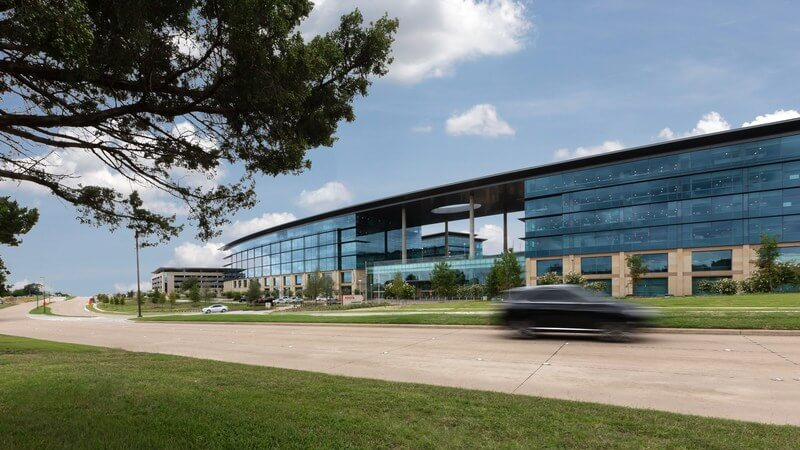 Exterior of Toyota's new headquarters in Plano Texas