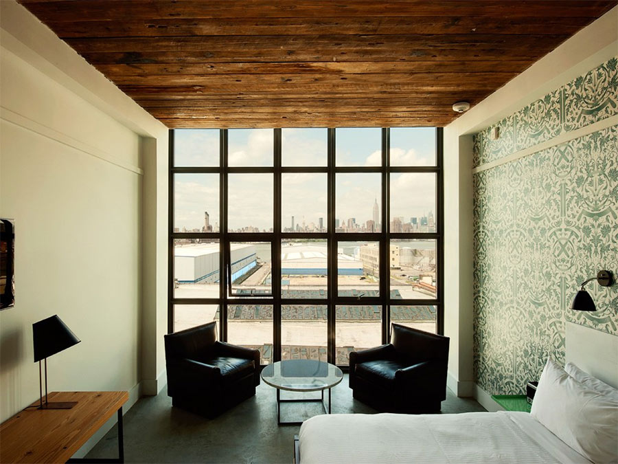 Reclaimed wood ceilings, Whyth Hotel, New York