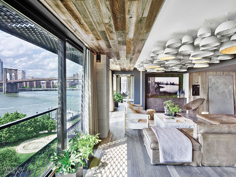Optimized indoor quality at 1 Hotel in Brooklyn due to reclaimed wood and views of nature
