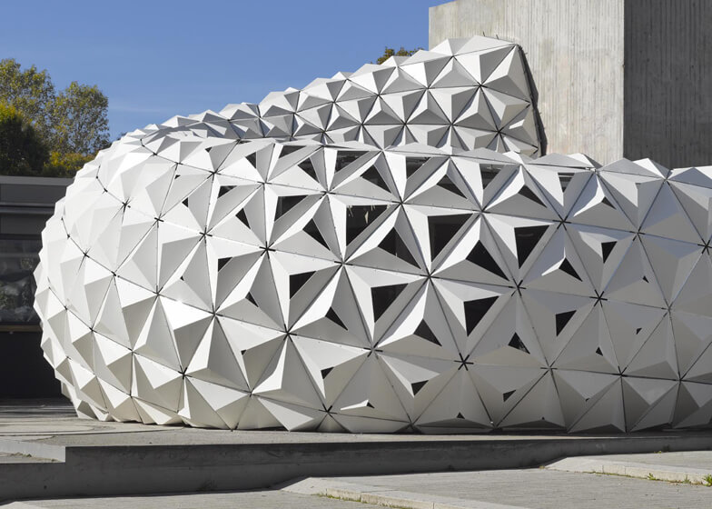 Arboskin pavilion is made from bioplastic