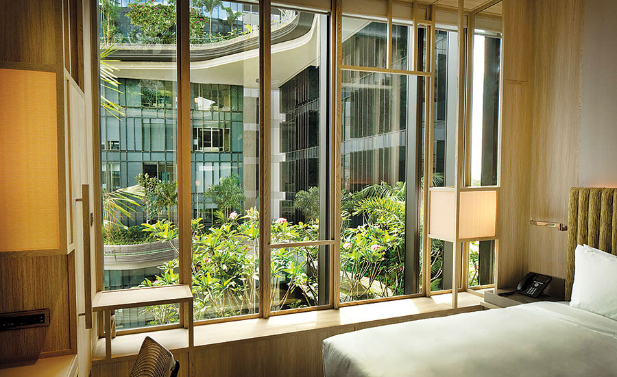 Biophilic hotel room at Park Royal