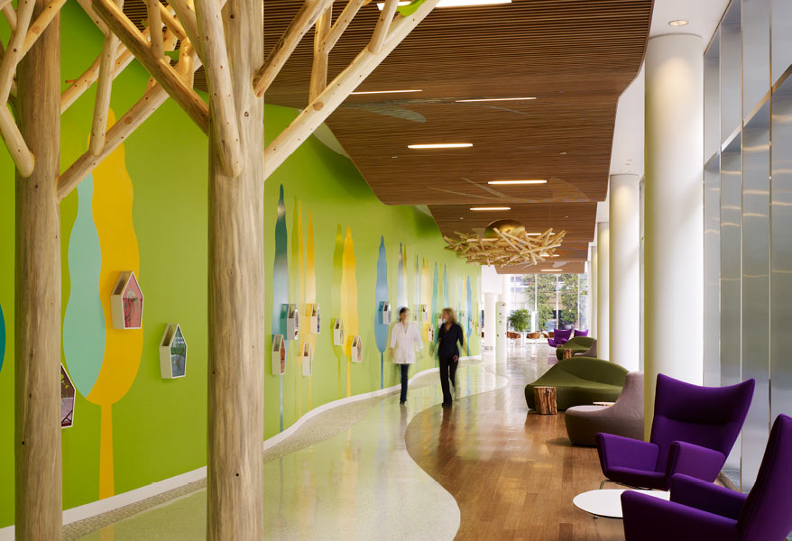 Biophilic design improves patient wellness at Randall Children's hospital