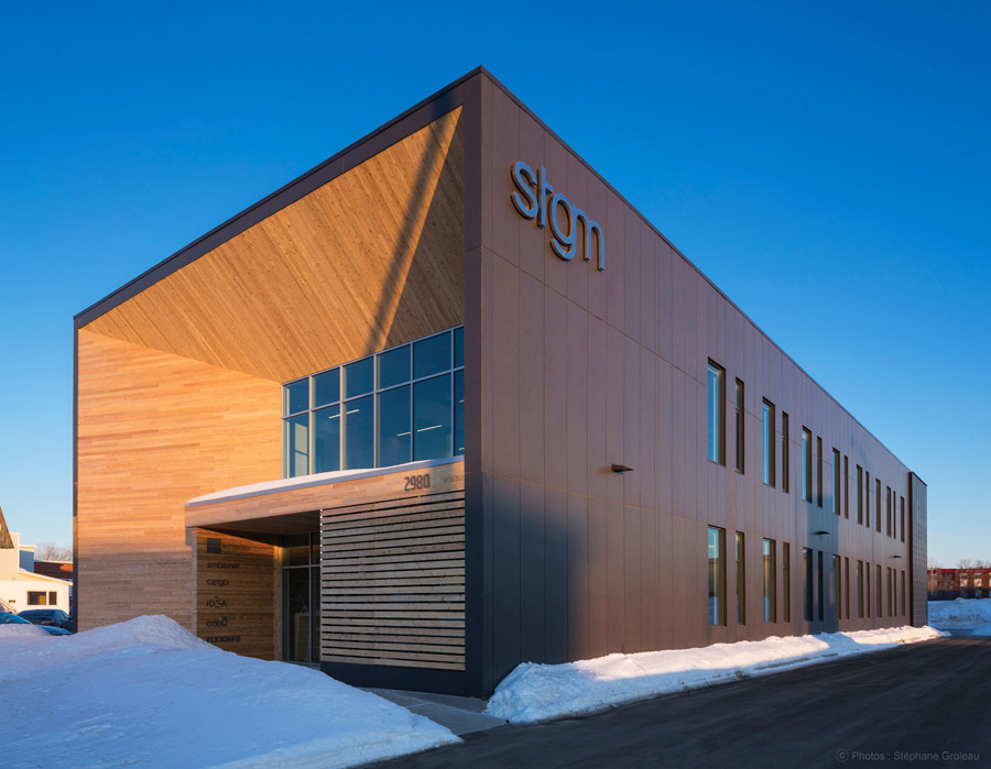 STGM Architects headquarters uses reclaimed wood
