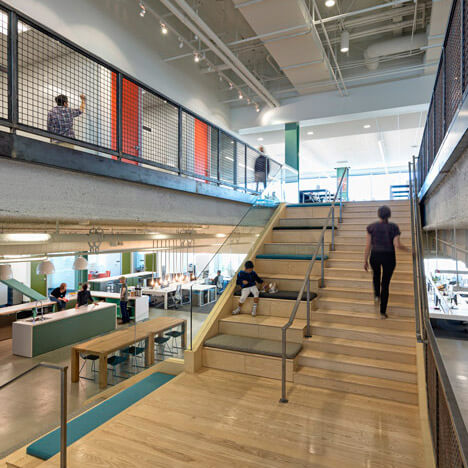 Stairs with stadium seating at Evernote HQ