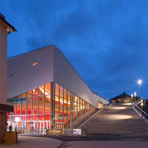 Outdoor steps at Plassen Cultural Center