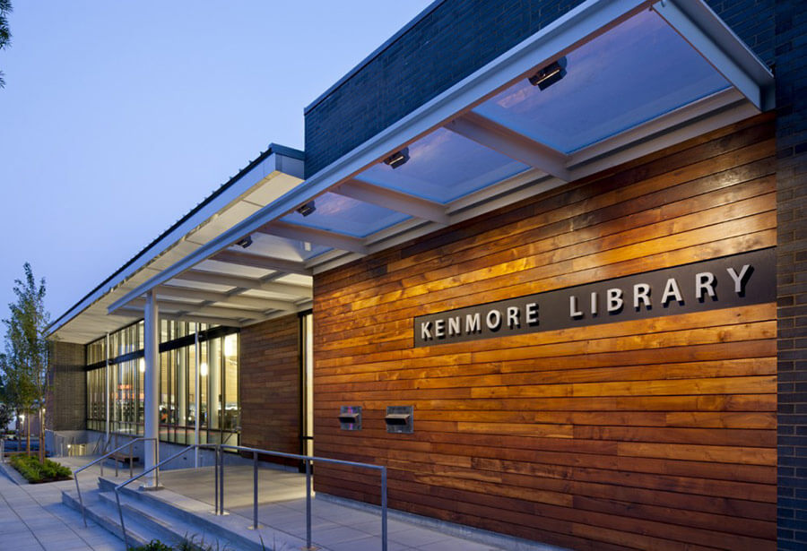 TerraMai Reclaimed Teak Siding at Kenmore Library in Kenmore, Washington