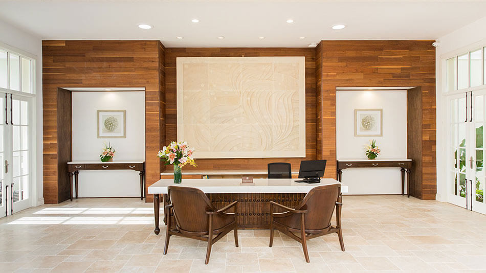 TerraMai's Reclaimed Walnut paneling is elegantly used at the Shore Club in Miami