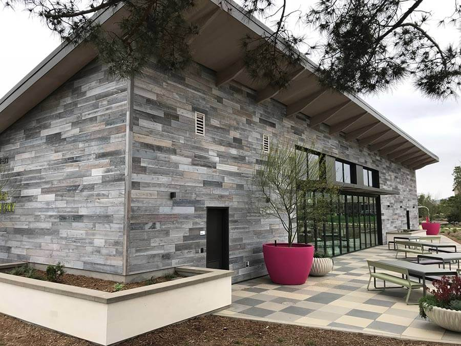 TerraMai's reclaimed Lost Coast Redwood Siding at Cadence Park