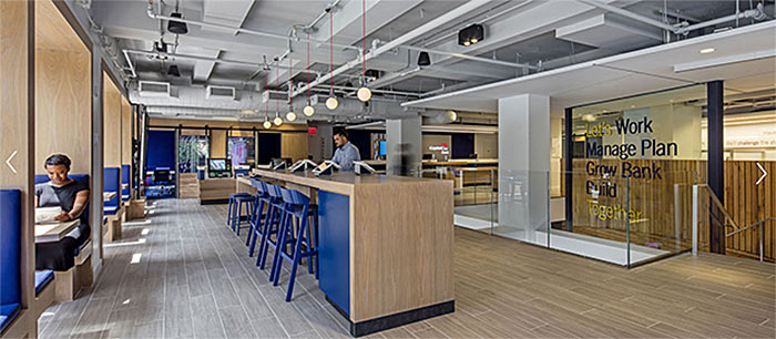 Capital One's office fosters a healthy, biophilic environment for workers