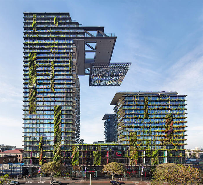 Sydney's One Central Park is a striking mixed-use development