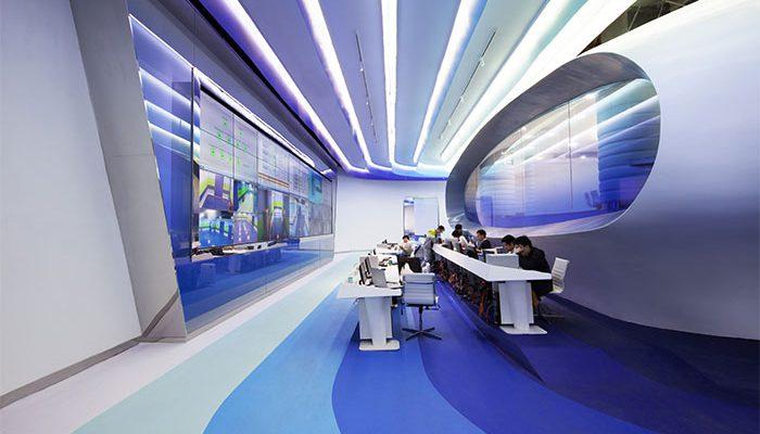 Cloud DNS futuristic office