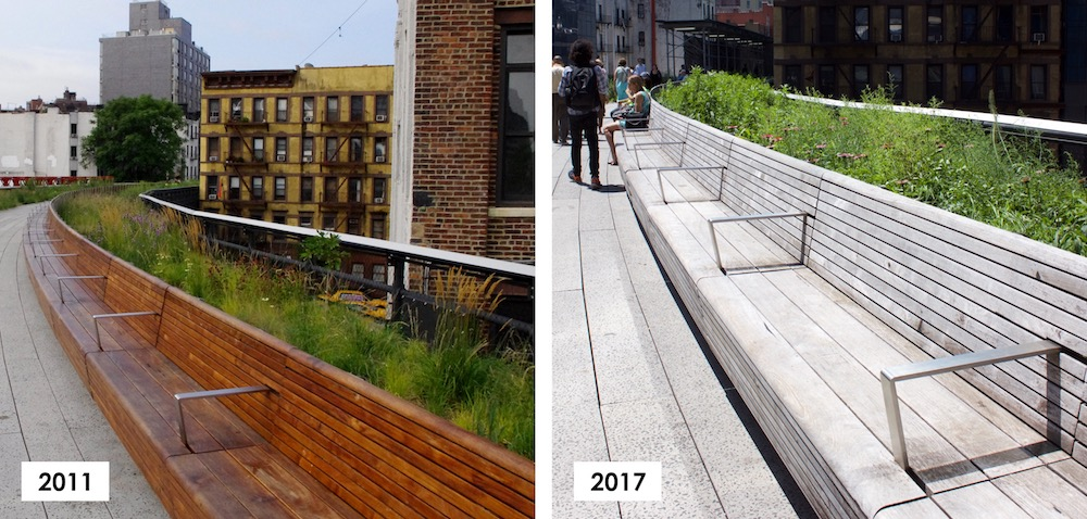 Reclaimed Teak Decking Install - The High Line in NYC