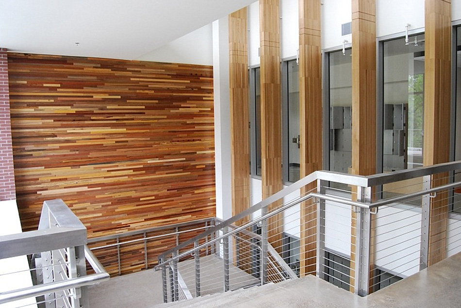 Oregon State university reclaimed World Mix paneling