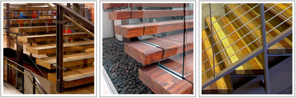 Reclaimed Wood Stair Treads