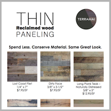 Reclaimed Wood Thin Paneling Collection eCard