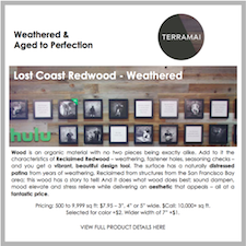 Reclaimed Weathered Lost Coast Redwood