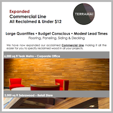 New Extended Commercial Line of Reclaimed Woods